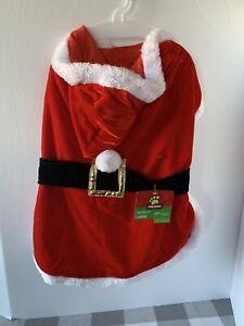 Dog Santa Suit Jacket Coat With Hood Small