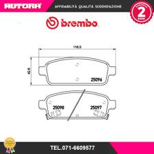 P59080 Kit pastiglie freno a disco post Chevrolet-Hyundai-Opel (MARCA-BREMBO).