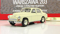 Warshawa-203 USSR Soviet Auto Legends Diecast Model DeAgostini 1:43 #144