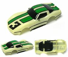 1984 TYCO HO '79 Chevy Corvette NITEGLOW Slot Car BODY ONLY Cliff Hanger 6220