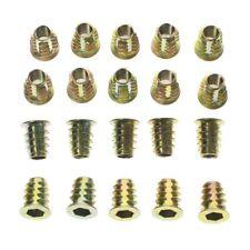 20x M6 13mm Zinc Plated Hex Socket Screw in Thread Insert Nut for Wood
