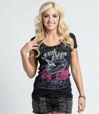 Metal Mulisha Ladies Darkness Falls Scoop Tee Size XS