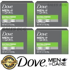 6 Bars x Dove Men+Care Extra Fresh Soap Moisturising cream Body & Face Bar 90g