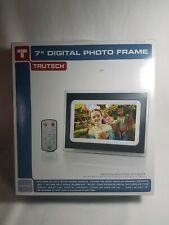 "NEW TruTech 7"" Digital Photo Frame BLACK 6in × 8.25in. × 1.2in."