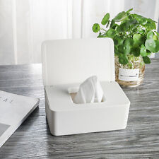 Home Wet Tissue Box Holder White Square Paper Towel Napkin Box Dispenser YS7