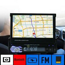 "Single 1 Din 7"" GPS Flip Car Stereo Radio MP3/MP5 Player Touch Screen USB SD AVI"