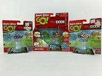 Angry Birds Go Telepods Deluxe Multi-Pack Figure Set with 2 Additional Karts New