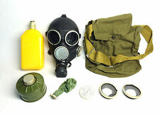 soviet russian black rubber gas mask GP-7V size 2 MEDIUM New full set