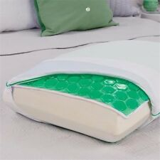 HYDRALUXE COOLING GEL PILLOW CASE SET OF 2 NEW COMFORT REVOLUTION GREEN KING NIB