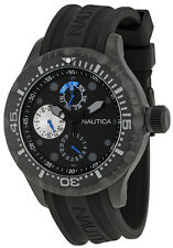 Nautica N16681G BFD 100 Black Dial Silicone Strap Multifunction Men's Watch