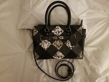 NWT Coach Blake Carryall 25 in Black/Snake Embossed Patchwork Leather 57892