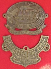 RAILWAY / TRAIN - emblem, insignia, FIRE & BURGLAR ENGINE, 2 emblems, Austria