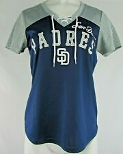 San Diego Padres G-III Women's Short Sleeve Lace-Up Mesh Jersey