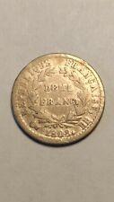 Demi 1/2 franc Napoléon Ier Bonaparte 1808 BB (Strasbourg) TB