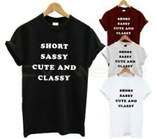 Lindo /& Elegante-Lema Divertido camiseta señoras Sassy Niñas Moda Top, Corto