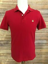 Brooks Brothers Mens Red Polo Shirt Size Medium Slim Fit Performance
