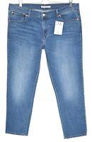 Ladies Womens Levis BOYFRIEND Blue Tapered Crop Stretch Jeans Size 14 W32