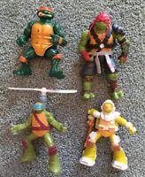 Playmates Teenage Mutant Ninja Turtles TMNT 1991-2016 Action Figure Lot (4) RARE