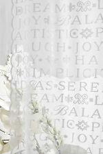 Gardinenset 2x(120x240cm) Vorhänge Gardinen Shabby Landhaus FRANSKE transparent