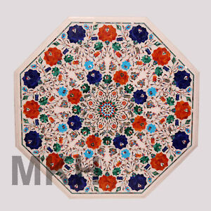 Table top new restaurant octagon marble furniture white height decor art home