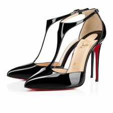 Christian Louboutin New Authentic J String 100 Patent leather T-bar pumps Size 3