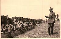 FOTO DEL 1939 - MILITARI REGIO ESERCITO ARTIGLIERIA A CAVALLO IN CAMPAGNA -