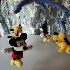 Disney Store Baby Mobile Only Crib Bed Nursery Decor Mickey Mouse & Pluto *B3