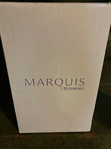 """Marquis by Waterford Lead crystal Vase 10"""" Heavy Scalloped Edge"""