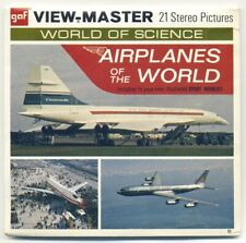 Airplanes of the World View-Master B-773-B Concorde F-111 Boeing 727 747 + more