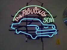 """New The Fabulous 50's Neon Sign 24""""x20"""" Ship From USA"""