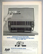 "SCM ""44"" Electrostatic Desk-Top Copier PRINT AD - 1964"