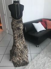 Cavalli evening dress with gold chain!runway! Authentic