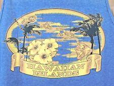 Hawaiian Islands Tank Muscle Shirt Large Blue Mens Cotton Blend Alstyle Apparel