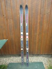 """New listing Vintage Snow Skis 70"""" Long with Bindings Signed Head"""