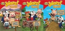 JAKERS ADVENTURES OF PIGGLEY WINKS Lot of 3 DVD 12 Episodes PBS KIDS NEW
