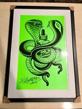 Tim hendricks tattoo RVCA Art Print Harley Davidson Punk Rock Cobra