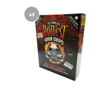913320 4 x 50g BOX THE WORLD HOTTEST CORN CHIPS EXTREME HEAT CHILLI INFUSE CHIPS