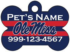 Ole Miss Rebels | NCAA Pet Id Dog Tag | Personalized for Your Pet