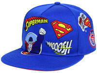New DC Comics Superman Patchwork Snapback Hat Cap
