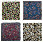 Lot of 4 Men's SANTOSTEFANO Woven Silk Handkerchief Pocket Squares