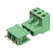 2EDG 5.08mm Pitch 3Pin Plug-in Screw PCB Terminal Block Connector Right Angle