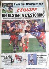 L'Equipe Journal 10/01/1999; Stade Français-Ulster 27-33/ Hermann Maier/ Halard