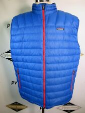 E7343 Patagonia Men's Down Sweater Vest Blue/Red Size 2XL
