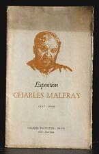 Catalogue exposition Charles Malfray - Galerie Parvillée, Paris avril - mai 1944