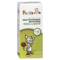 Penta-vite Liquid Multivitamins with Iron for Kids 1-12 yrs - 100mL