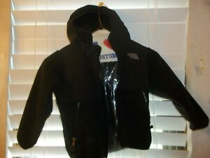 The North Face Black Fleece Toddler Baby Hooded Zip Up Jacket Size 3T/3B