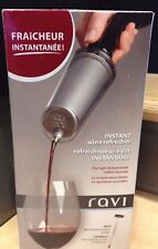 Ravi Instant Wine Refresher chills within seconds wine thermometer + chill Rod