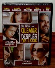 QUEMAR DESPUES DE LEER DVD NUEVO PRECINTADO DRAMA THRILLER (SIN ABRIR) R2