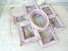 Victorian Pink Gold Photo Collage Frame shabby hp hand painted chic vintage rose