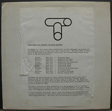 "The TUBES Completion Backward Principle 1981 UK PROMO 12"" + Press Release SQUIER"